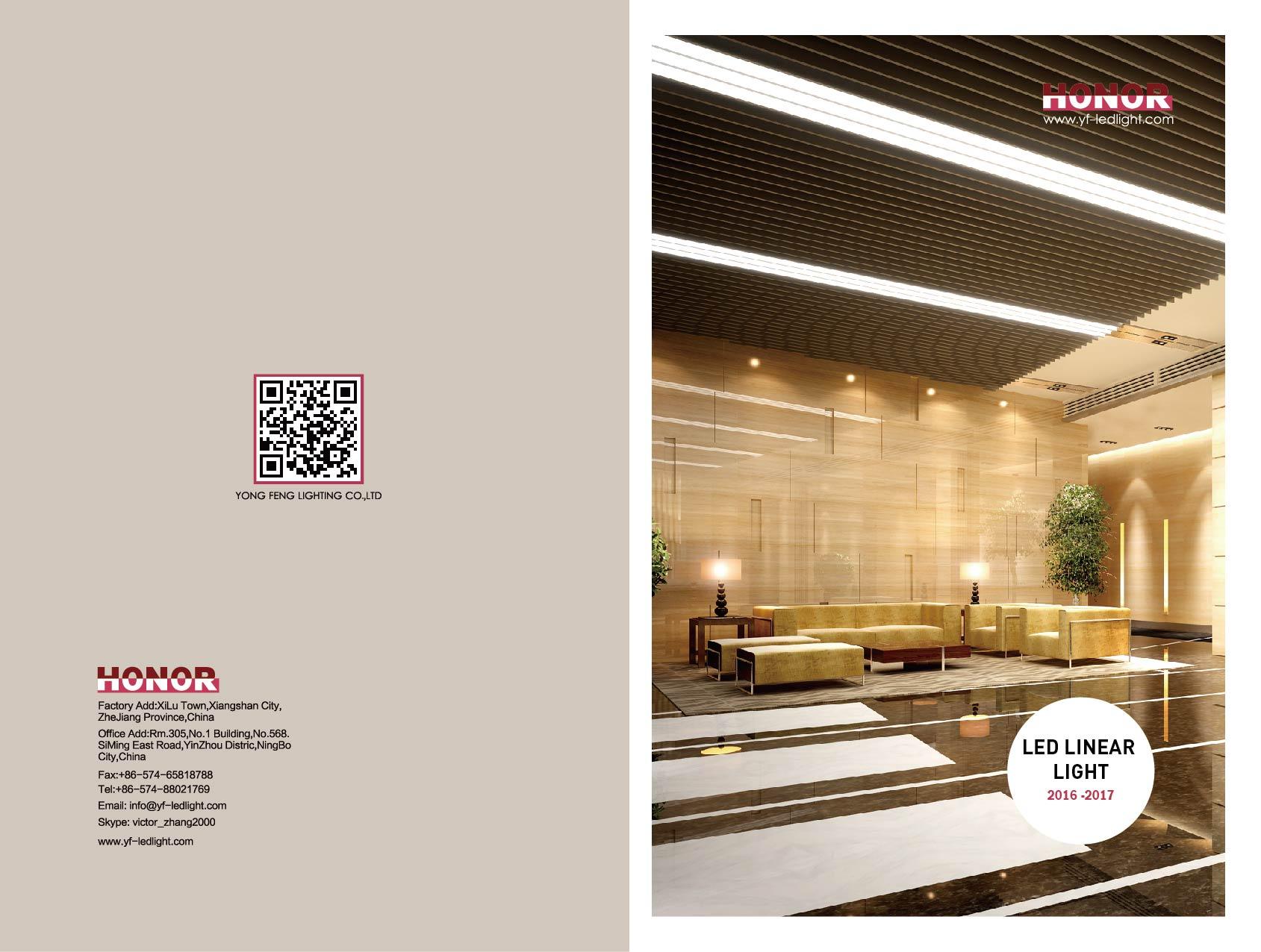 YF 2016 LED Linear Light Catalog