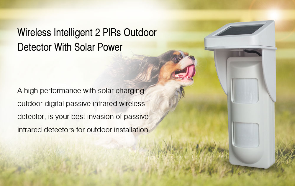 Outdoor Wireless Solar Power PIR Motion Detector