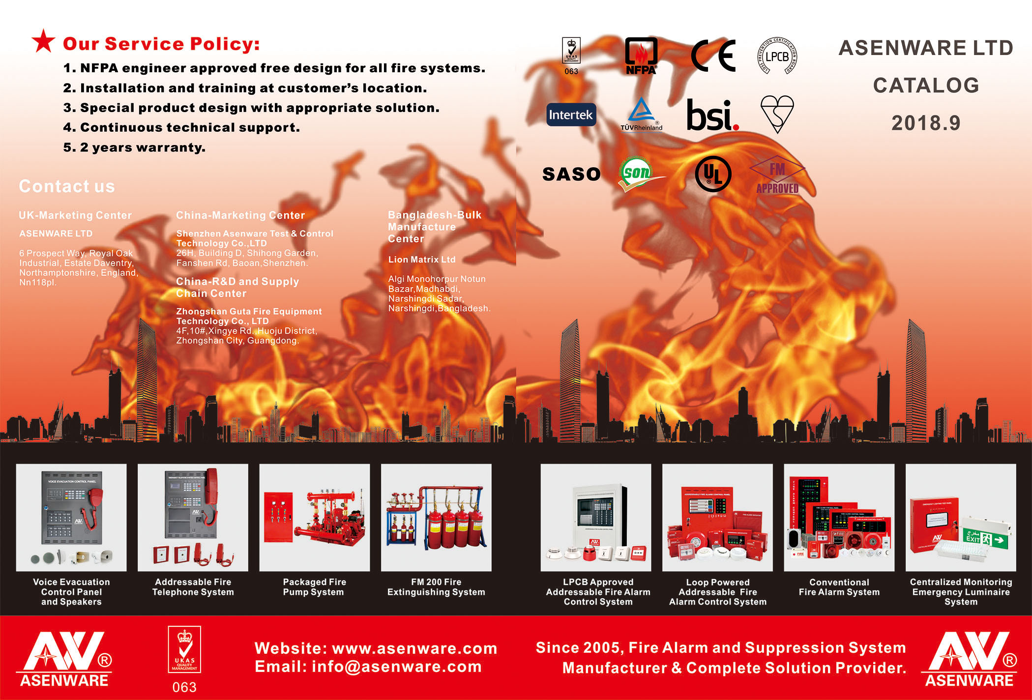 Asenware Fire Product Catalog