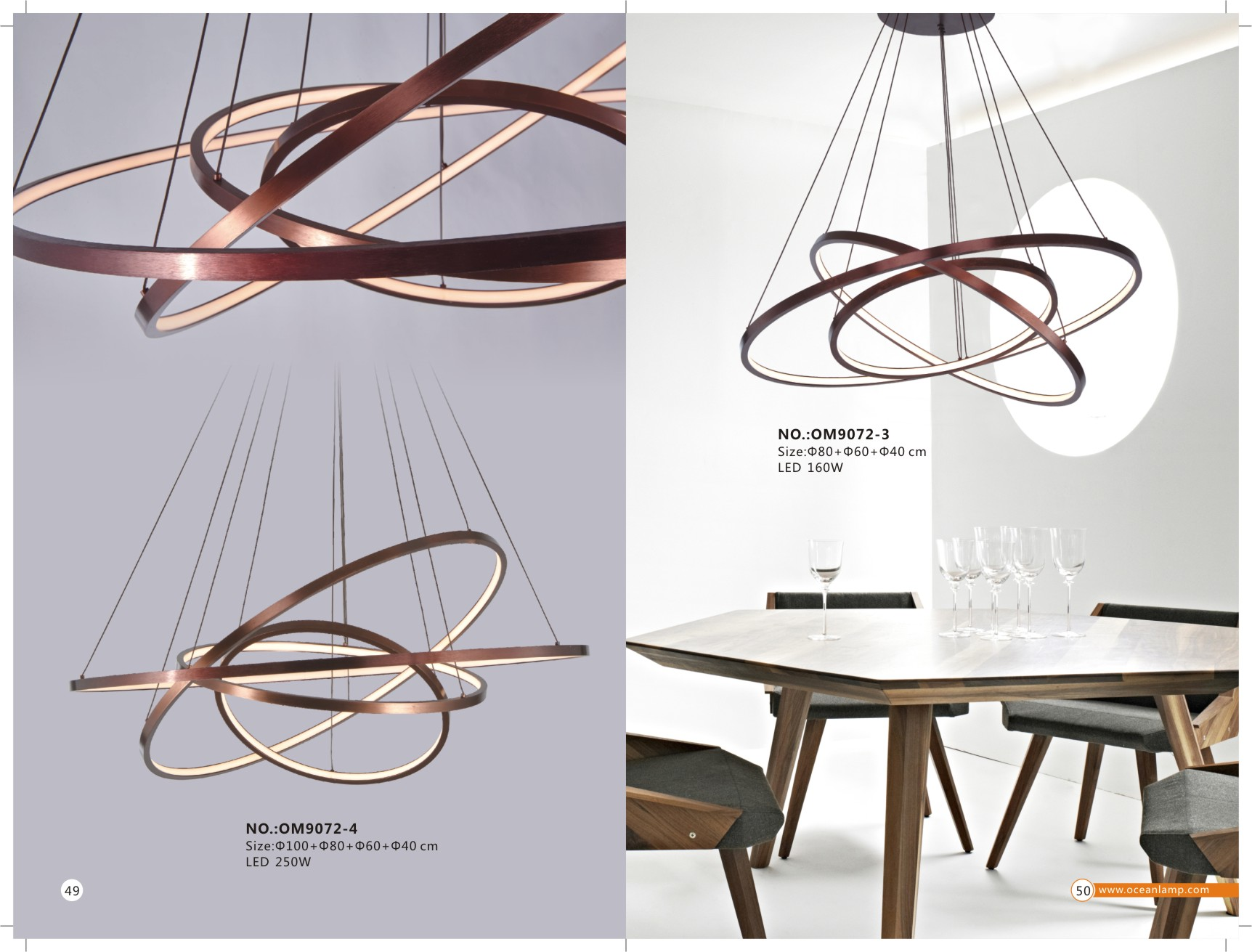 LED Modern lighting catalogue