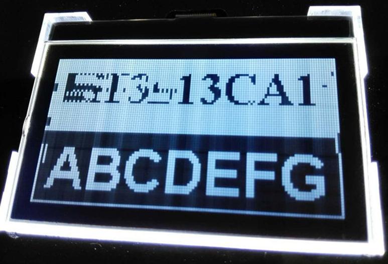 VA 1/64duty TYPE COG LCD module