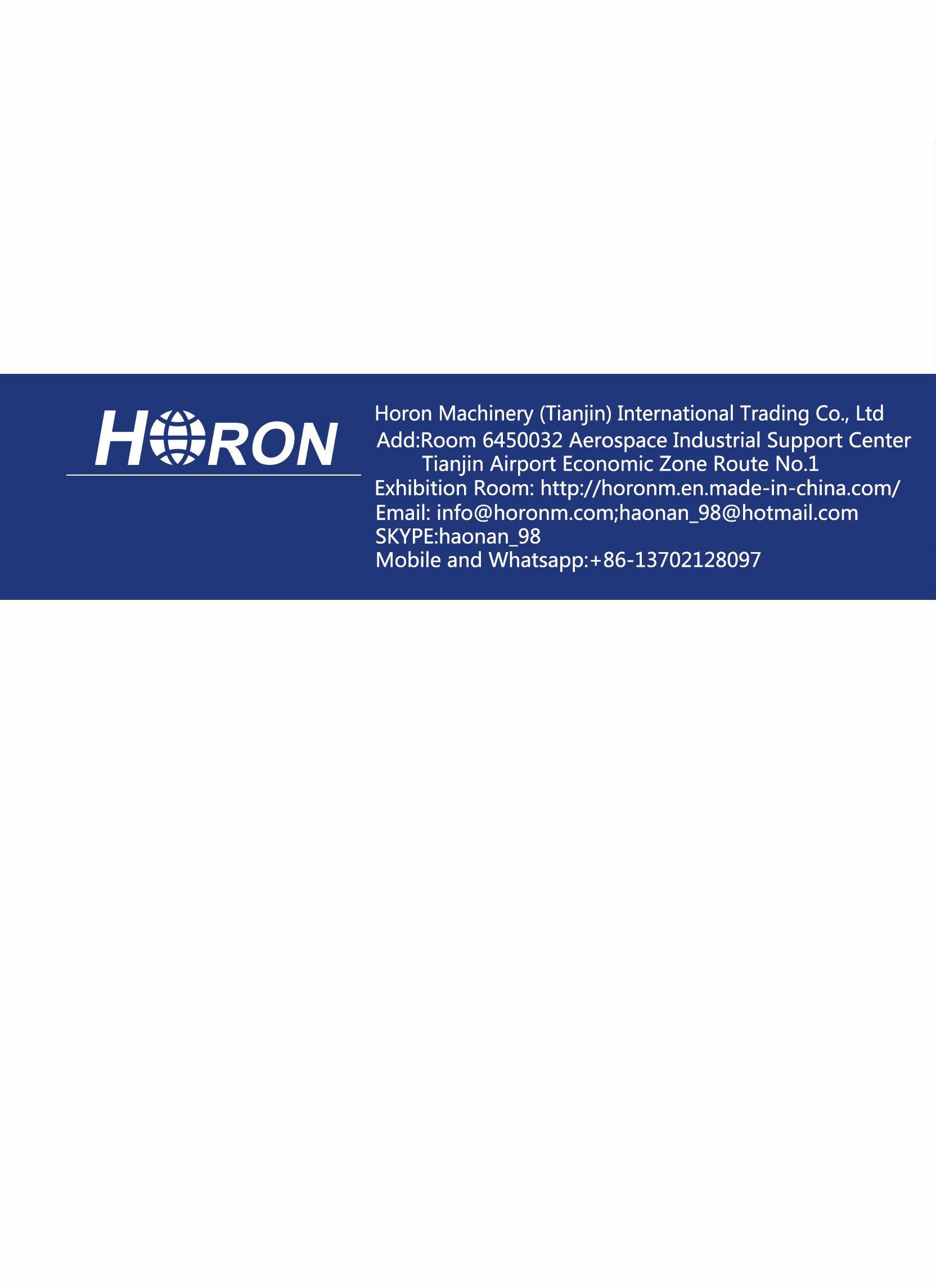 Catalogue of HORON PPR Pipes and Fittings