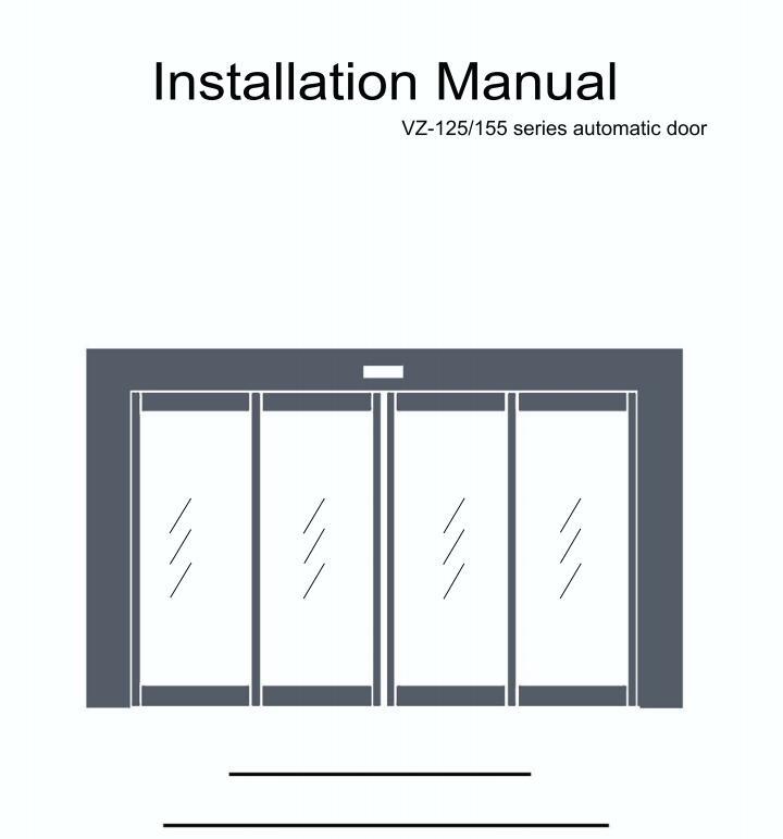 Installation Manual For Sliding Door