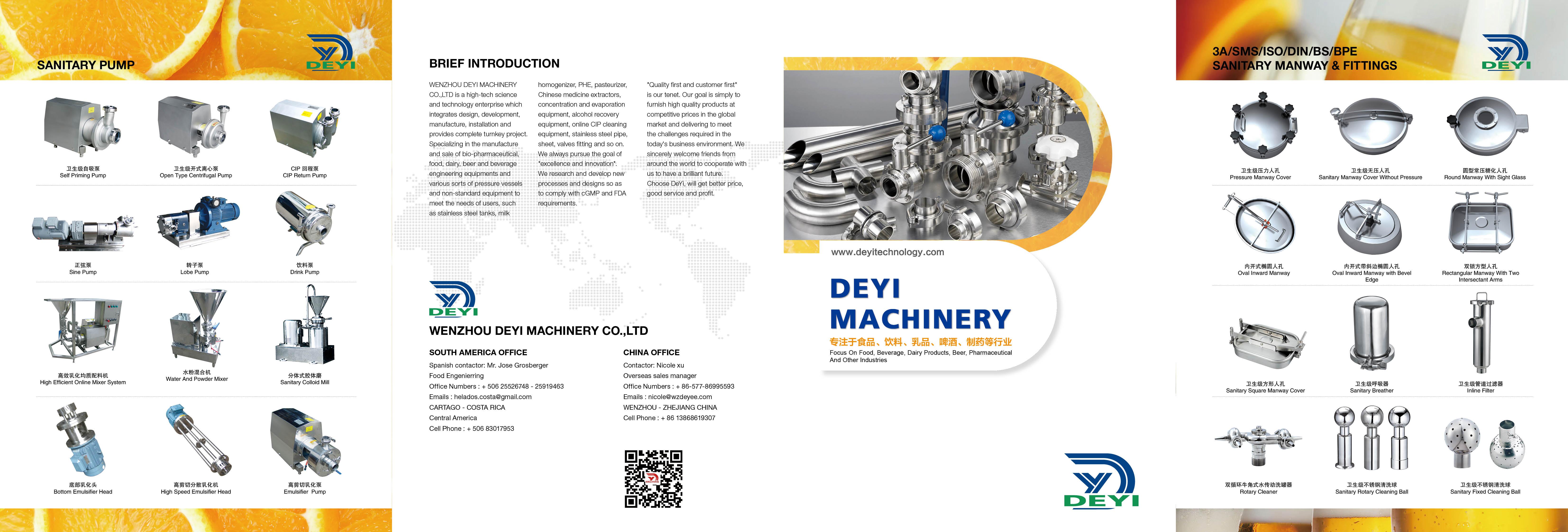 DEYI catalog of sanitary valves
