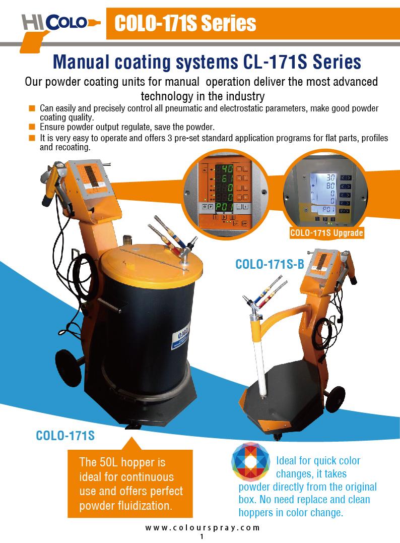 2017 COLO Powder coating machine.