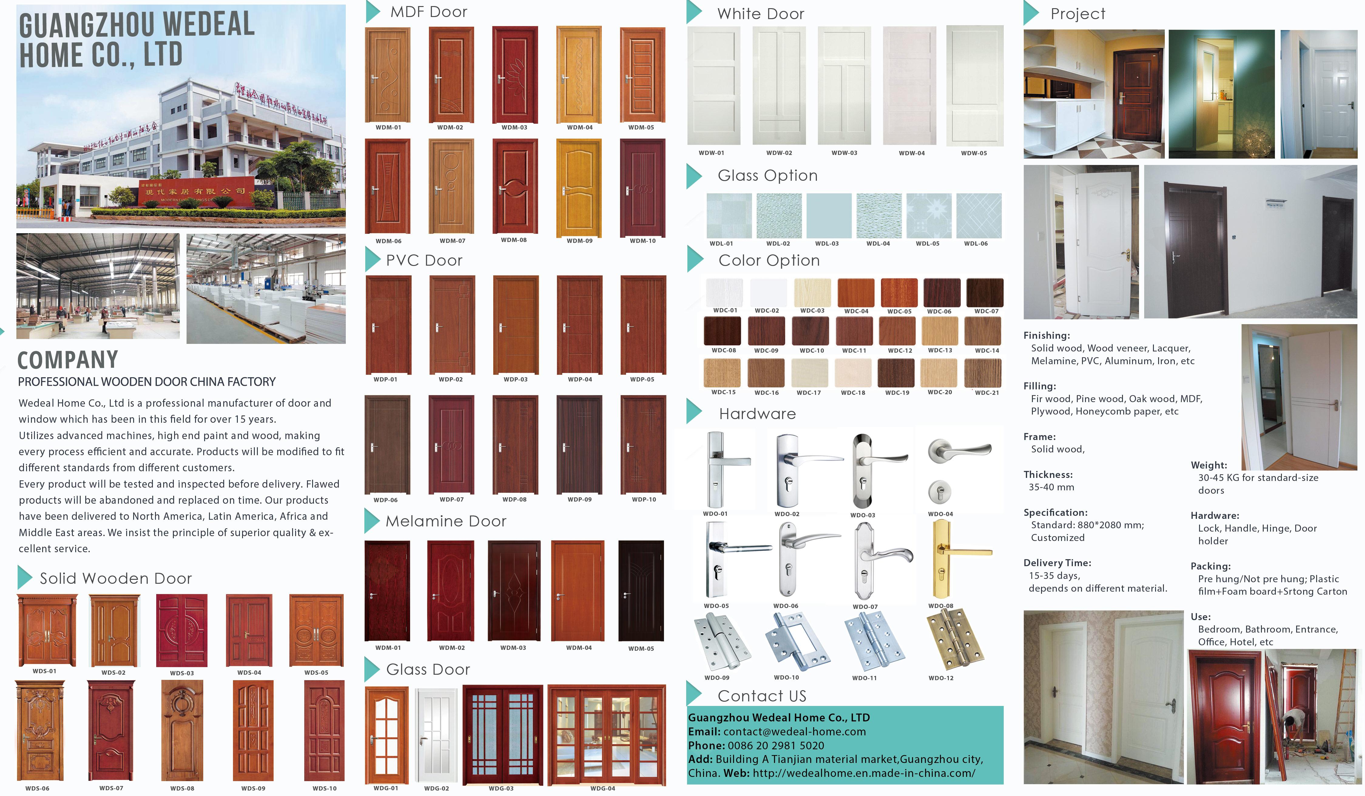 Guangzhou Wedeal Home Wooden Door Brochure