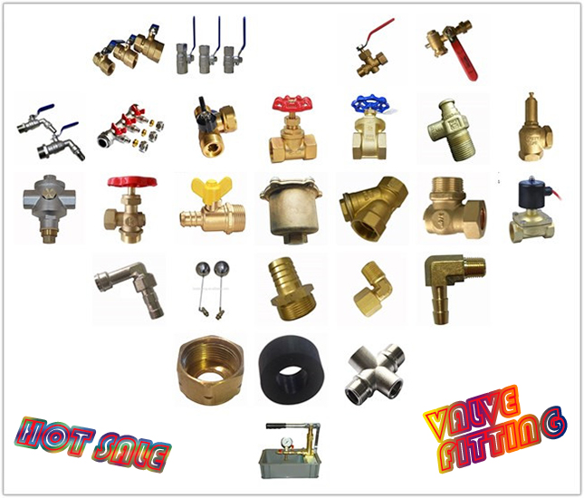 Brass valve and brass fittings