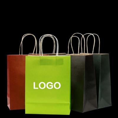 Custom paper service bags with logo