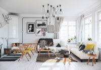 Airy Scandinavian Apartment With Traditional Wood Stoves