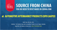 Visit Made-in-China.com at AUTOMOTIVE AFTERMARKET PRODUCTS EXPO (AAPEX)