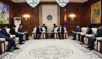 Liu Zhenya Talks with Chairman of The State Great Hural and Prime Minister of Mongolia