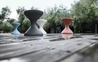 An Hourglass-Shaped Occasional Table for The Patio: Bells