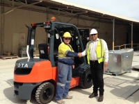 TMHA Has Specially Tailored a 2.5-Tonne Forklift to Meet The Specific Site Needs
