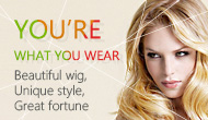 YOU ARE WHAT YOU WEAR,Beautiful wig,Unique style,Great fortune