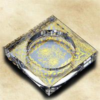 Arte cristalino del cenicero de cristal de los colores para el regalo