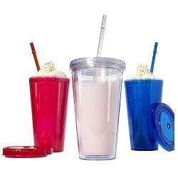 Metka Household Plastic Two-Layer Heatproof Water Cup 420ml