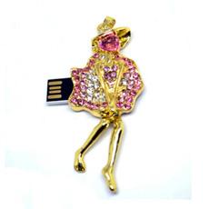 Jewelry USB Ballet Jewelry USB Flash Drive Pendrive