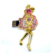 Mecanismo impulsor del flash del USB de la joyería del Ballet-Dancer del USB de la joyería