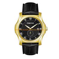 Relógios resistentes hábeis de quartzo da água do projeto com chapeamento amarelo