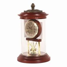 Relógio de Mesa de Madeira com Tampa