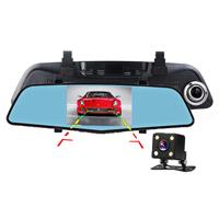 автомобиль DVR зеркала Rearview рекордера черного ящика автомобиля 4.3inch HD 1080P