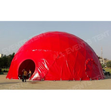 Grand Red Dome Tent pour Concert Events