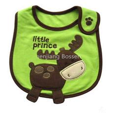 Algodão personalizado relativo à promoção Bibs absorventes impermeáveis macios do bebê de Terry dos desenhos animados bonitos de Embroideried & de Applique