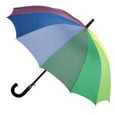 Guarda-chuva reto da impressão exterior do arco-íris (JS-066)