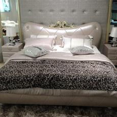 Chambre à coucher Furnitur0e, lit en cuir
