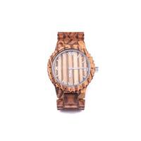 Dos homens de madeira do relógio do relógio de pulso da forma relógio de quartzo das mulheres