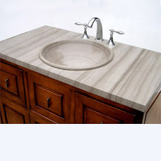 Естественные деревянные верхние части тщеты Countertops/мрамора вены