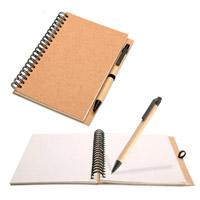 Custom Hot Selling Spiral Paper Notebook com caneta (SNB127)