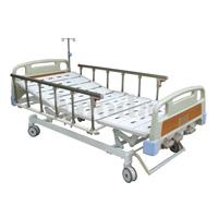 Ручная больничная койка Medical двойного кривошипа с Guardrail