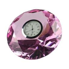 Relógio de Mesa Dentro Diamante de Cristal K9 para Presente