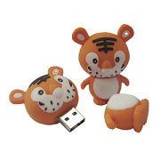 Tiger Forma Plástico del Cartón del USB Flash Drive