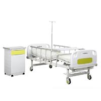 Manual de doble manivela cama de hospital para los equipos médicos (HK-N207)