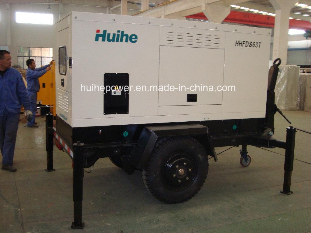Gerador diesel com dossel (tipo do reboque)