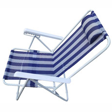 Chaise de plage réglable d'accoudoir de 5 positions