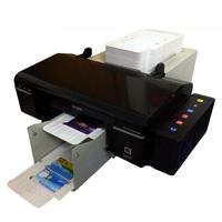 Máquinas de impressão Impressora de cartão de injetor a jato de tinta automática para 100 PCS PVC Card e 50 PCS CD Printing