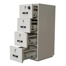 Cabinet de Dossier Ignifuge de 1 Heure, Cabinet en Acier Vertical (750FRD-4014)