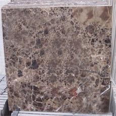 Темная плитка пола Emperador мраморный составная с фарфором