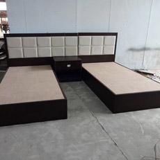 Lit tapissé gentil d'hôtel de Furntiure de chambre pour deux personnes de tête de lit à vendre