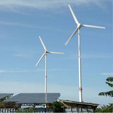 Sistema de gerador da turbina da planta 20kw das energias eólicas