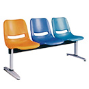 3-Seater Plastic Public Waiting Chair