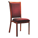 Metal Imitated-Wood Banquet Chair