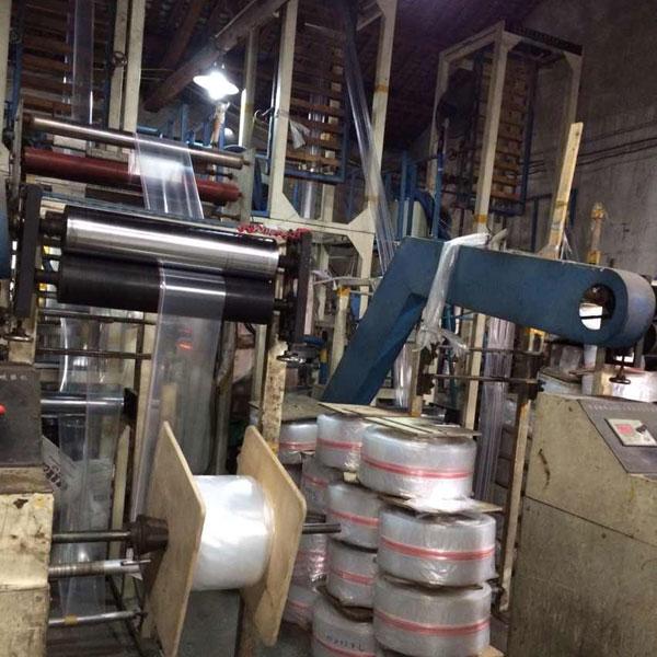 zip lock film blowing machine installed in customer's plant