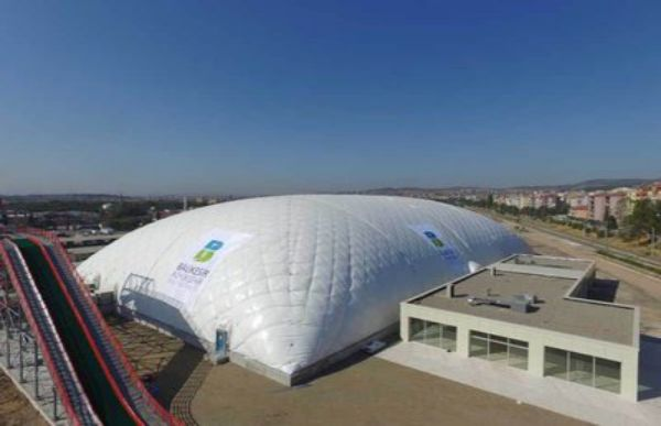 Inflatables Inside Large Inflatable Tent in Turkey