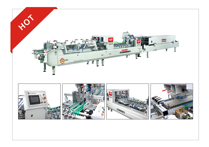 XCS-650PF automatic efficiency pre-folder folder gluer machine
