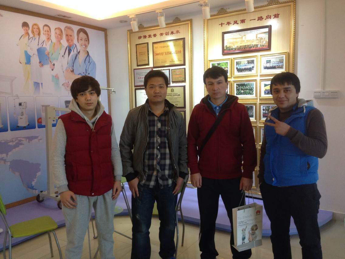 Sales Andy Guo with Tajikistan clients