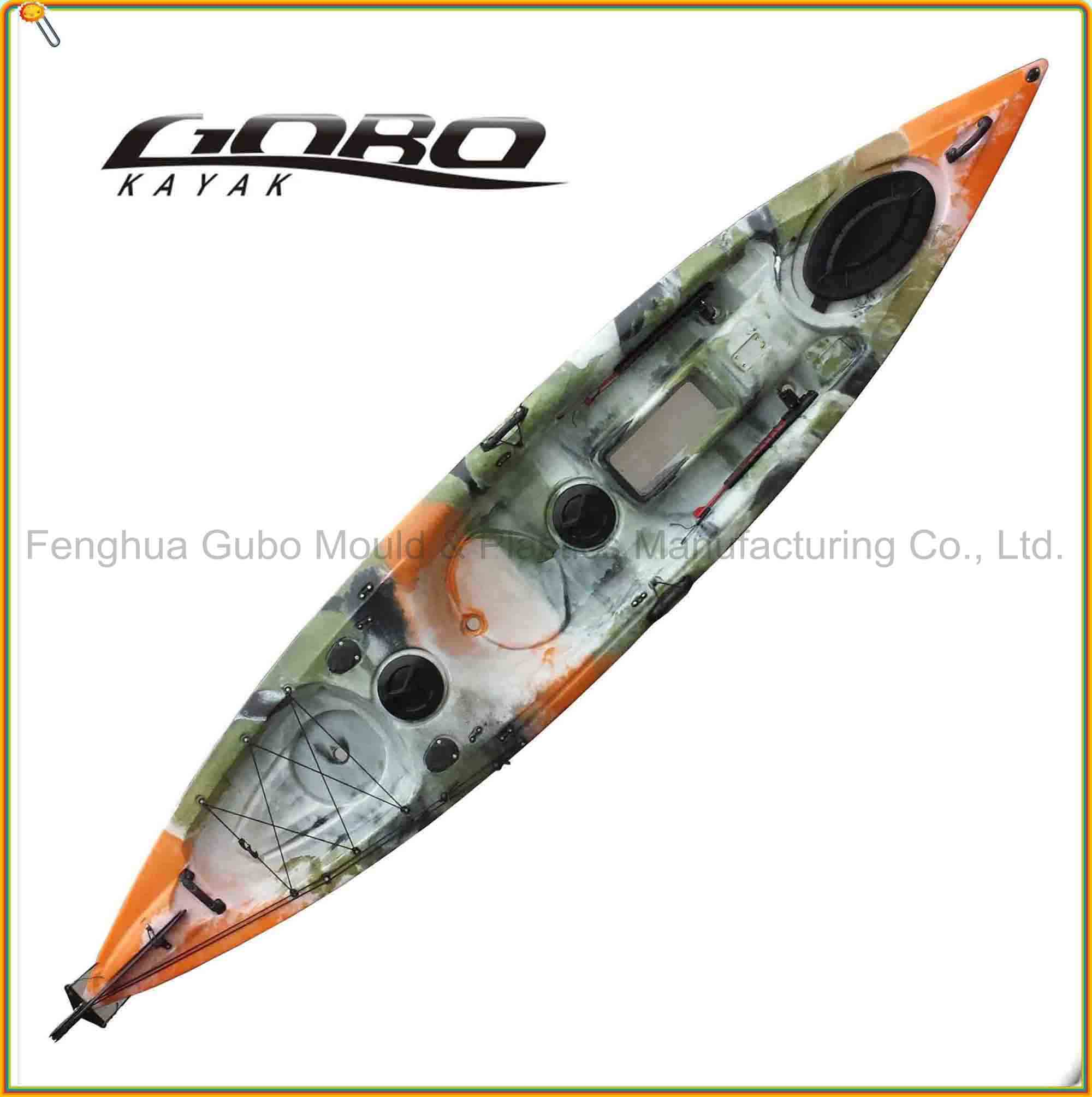fishing kayak with clear hatch